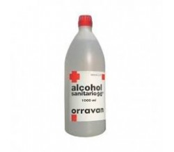 ALCOHOL 96 SANITARIO ORRAVAN (SOLUCION TOPICA 1000 ML )