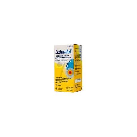 lizipadol (17,86 mg/ml solucion pulverizacion bucal 20 ml )